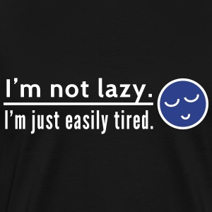 i am not lazy with sleeping emoticon T-Shirts - Men's Premium T-Shirt
