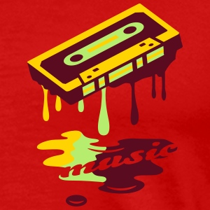 A dripping music tape T-Shirts - Men's Premium T-Shirt