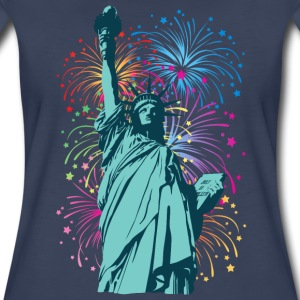 Lady Liberty Fireworks - Women's Premium T-Shirt