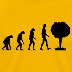 Evolution with nuclear power mushroom T-Shirts