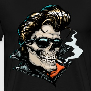 Rockabilly Skull T-shirt - Men's Premium T-Shirt