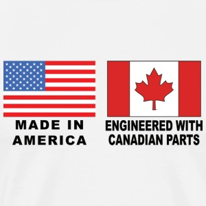Made In America With Canadian Parts T-Shirt - Men's Premium T-Shirt