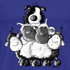 Border Collie and sheep - dog  T-Shirts - Men's Premium T-Shirt