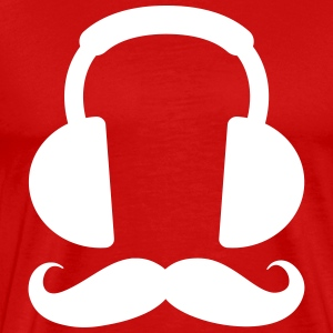 Headphone Mustache T-Shirts - Men's Premium T-Shirt