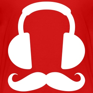 Headphone Mustache Baby & Toddler Shirts - Toddler Premium T-Shirt