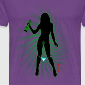 Green Bong Girl-2 - Men's Premium T-Shirt
