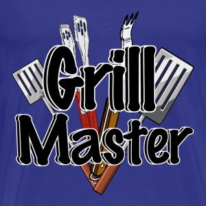 The Grill Master with BBQ Tools  - Men's Premium T-Shirt