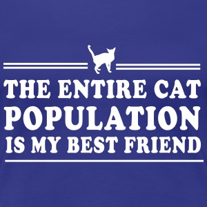 The Entire Cat Population is My Best Friend Women's T-Shirts - Women's Premium T-Shirt