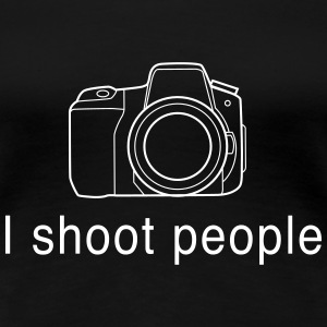 I Shoot People - Camera Women's T-Shirts - Women's Premium T-Shirt