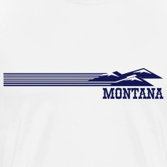 Retro Montana Skyline T-Shirts