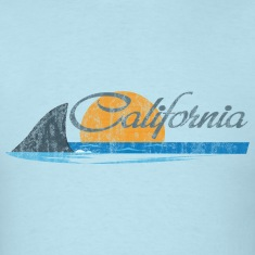 California Shark Fin T-Shirts