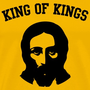 King of Kings. Jesus Christ T-Shirts - Men's Premium T-Shirt