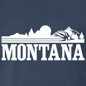Montana Mountains T-Shirts - Men's Premium T-Shirt