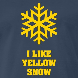 Yellow Snow Flake No.2 T-Shirts - Men's Premium T-Shirt
