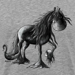 Black Pearl - Friesian Horse -  Cartoon T-Shirts - Men's Premium T-Shirt