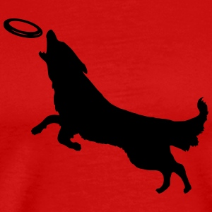 Dog with Frisbee - Men's Premium T-Shirt