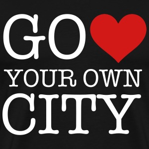 heart your own city T-Shirts - Men's Premium T-Shirt