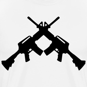 crossed rifles 1_ T-Shirts - Men's Premium T-Shirt