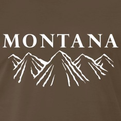 Montana Mountain Range T-Shirts