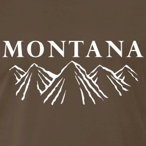 Montana Mountain Range T-Shirts - Men's Premium T-Shirt