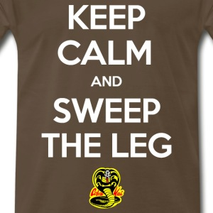 Keep Calm and Sweep the Leg - Men's Premium T-Shirt