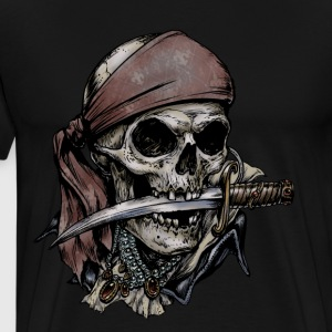 Pirate Skull T-shirt - Men's Premium T-Shirt
