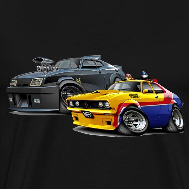Maddmax Car Art And Design Mad Max Movie Cars Mens Premium T Shirt