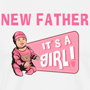 New Father Baby Girl T-Shirt - Men's Premium T-Shirt