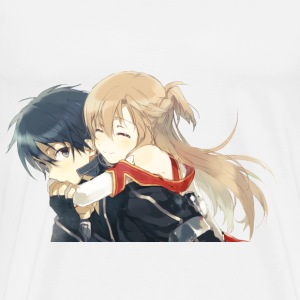 Kirito x Asuna Male Shirt [ No words ] - Men's Premium T-Shirt