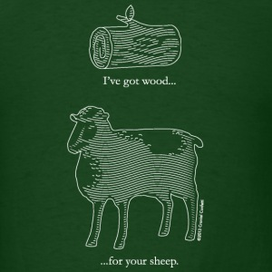 Wood for Sheep Design White T-Shirts - Men's T-Shirt