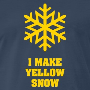 Yellow Snow Flake No.1 T-Shirts - Men's Premium T-Shirt