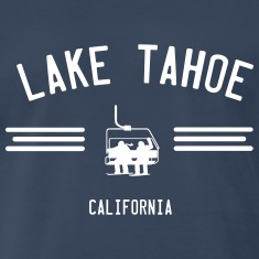 Lake Tahoe California Ski Lift T-Shirts