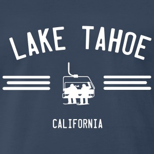 Lake Tahoe California Ski Lift T-Shirts - Men's Premium T-Shirt