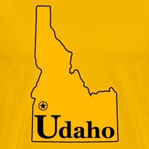 Udaho not Idaho humor - Men's Premium T-Shirt