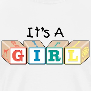 New Dad Baby Girl T-Shirt - Men's Premium T-Shirt