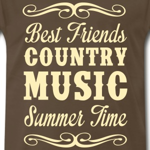 Best Friends, Country Music, Summer T-Shirts - Men's Premium T-Shirt