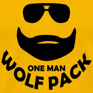 one man wolf pack T-Shirts - Men's Premium T-Shirt
