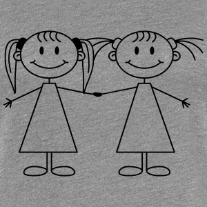 Best Friends Girls Women's T-Shirts - Women's Premium T-Shirt