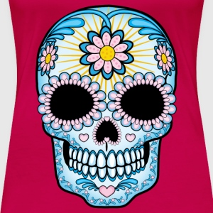 Colorful Sugar Skull Women's T-Shirts - Women's Premium T-Shirt