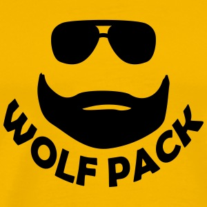 wolf pack beard T-Shirts - Men's Premium T-Shirt