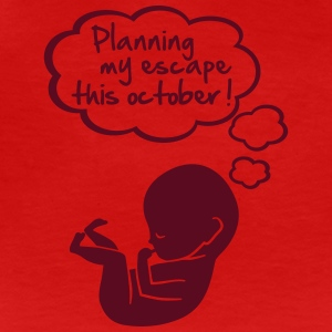 planning my escape this october Women's T-Shirts - Women's Premium T-Shirt