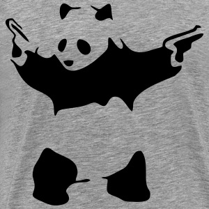 Funny Gym Shirt - Hardcore Panda T-Shirts - Men's Premium T-Shirt