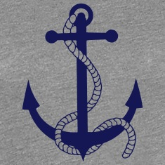 anchor ship boat harbour sailing captain sea Women's T-Shirts
