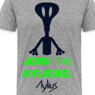 Design ~ Join The Ayliens Tee (Neon Green/Black)