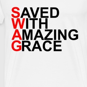 saved_with_amazing_grace_swag - Men's Premium T-Shirt