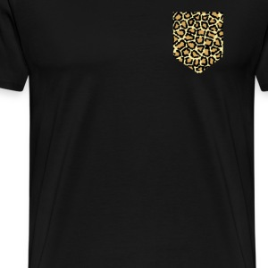 animal print fake pocket T-Shirts - Men's Premium T-Shirt