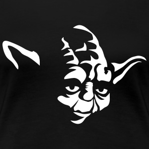 Yoda Cartoon - Women's Premium T-Shirt