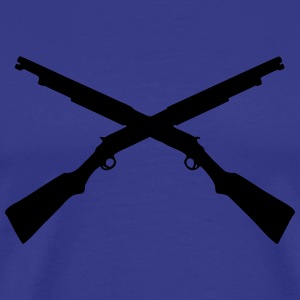 shotgun_crossed shooting T-Shirts - Men's Premium T-Shirt