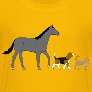 horse dog and cat Kids' Shirts - Kids' Premium T-Shirt