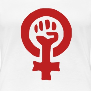 Feminist Symbol in red - Women's Premium T-Shirt
